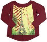 Junior Gaultier Giraffe In Paris Satin & Jersey T-Shirt