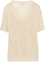 American Vintage Open-knit cotton top