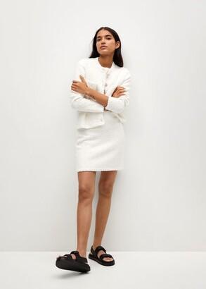 MANGO Tweed miniskirt