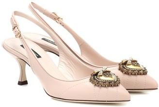 Dolce & Gabbana Nicole slingback leather pumps