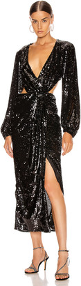 Alice McCall Electric Orchid Gown in Black | FWRD