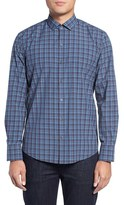 Zachary Prell Men's Slim Fit Plaid Sport Shirt