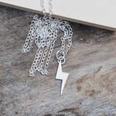 Lightning Bolt Huiyi Tan Necklace In Sterling Silver