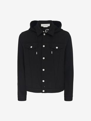Alexander McQueen Denim Sweatshirt Jacket