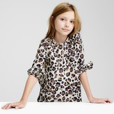 J.Crew Girls' painted leopard-print top