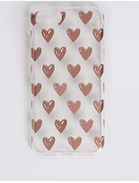 M&S Collection iPhone 6/6S Heart Print Phone Case