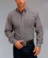 Stetson Gray Geometric Button-Up Shirt - Men & Big