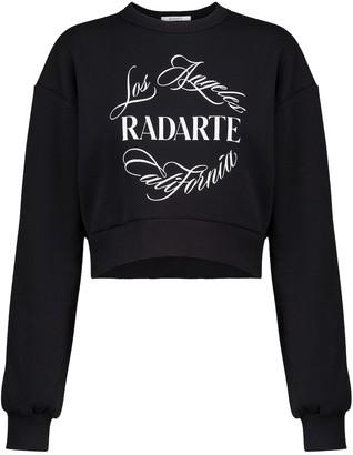 Rodarte Logo cropped cotton-blend sweatshirt