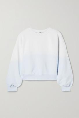 AGOLDE Ombre Cotton-jersey Sweatshirt - Blue