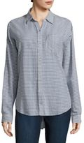 Current/Elliott The Boyfriend Striped Chambray Shirt