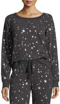 Joie Edrie Night-Sky Round-Neck Cotton Sweatshirt