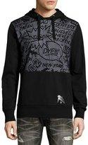 PRPS Comic-Strip Mesh-Panel Sweatshirt, Black