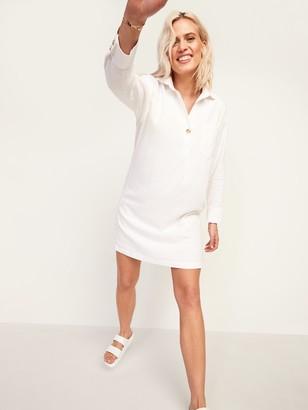Old Navy Linen-Blend Shift Shirt Dress for Women