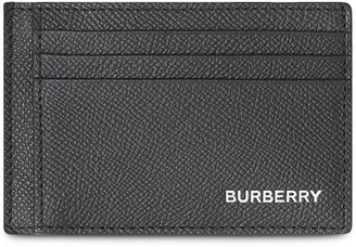 Burberry Grainy Leather Money Clip Card Case