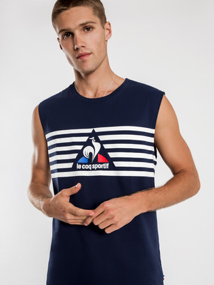 Le Coq Sportif Adamo Muscle T-Shirt in Blue