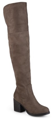 Brinley Co. Women's Round Toe Faux Suede Tall Boots