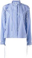 Ermanno Scervino cold-shoulder striped shirt - women - Cotton - 38