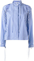 Ermanno Scervino cold-shoulder striped shirt