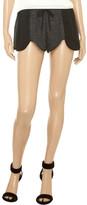 LnA Chloe chiffon-paneled jersey shorts