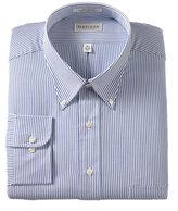 Van Heusen Men's Big & Tall Classic-Fit Blue Oxford Stripe Dress Shirt