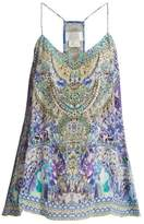 Camilla The Blue Market-print silk cami top