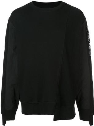 Mostly Heard Rarely Seen Asymmetrical seam sweatshirt