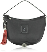 Piero Guidi Linea Bold - Black Canvas Shoulder Bag