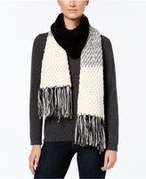 Rampage Colorblock Fringe Scarf, Only at Macy's