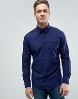 Esprit Shirt in Slim Fit with All Over Ditsy Print