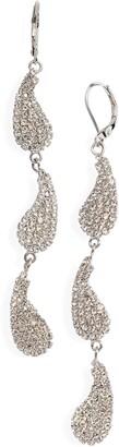 CRISTABELLE Crystal Paisley Triple Drop Earrings