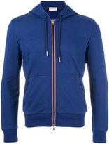 Moncler striped trim hoodie - men - Cotton - XXL
