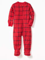 Old Navy Plaid Perfromance Fleece Sleeper for Toddler & Baby