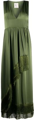 L'Autre Chose Fringed-Detail Midi Dress
