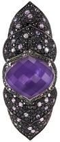 Stephen Webster 'Armadillo' Crystal Haze diamond sapphire long finger ring