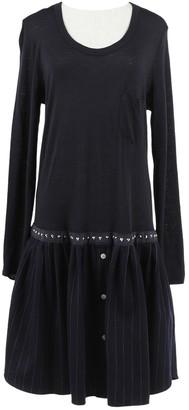 Sacai Navy Wool Dresses