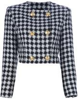 Versace Vintage houndstooth skirt suit