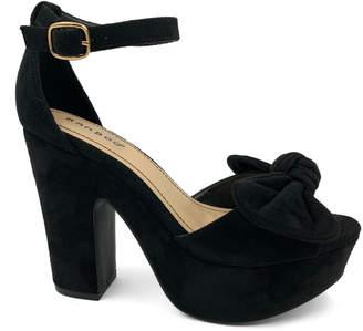 Bamboo Women's Sandals BLACK - Black Bow Ankle-Strap Ocean Bar Sandal - Women