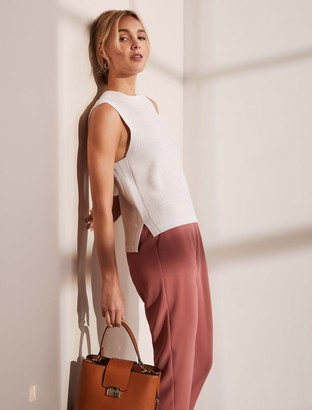 Forever New Rosa Textured Knit Tank - Stone - 10
