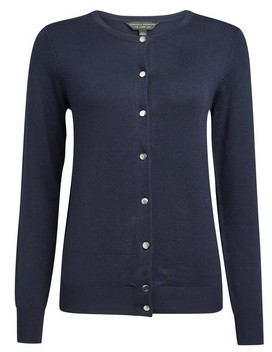 Dorothy Perkins Womens Navy Button Down Cardigan, Navy