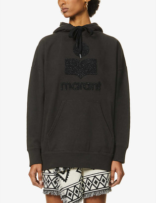 Etoile Isabel Marant Mansel logo-embroidered cotton-blend hoody