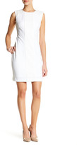 Tahari Crochet Embellished Shift Dress (Petite)