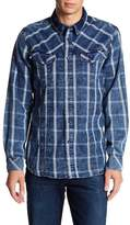 William Rast Oak Plaid Signature Long Sleeve