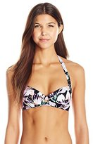 Bikini Lab Women's Tropic Full Of Sunshine Push Up Underwire Top