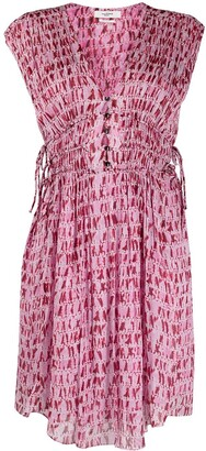 Etoile Isabel Marant Sleeveless Tie-Waist Dress