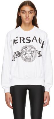 Versace White Vintage Medusa College Sweatshirt