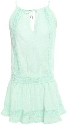 Melissa Odabash Chelsea Crochet-trimmed Broderie Anglaise Cotton Mini Dress