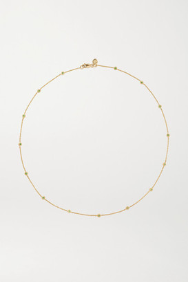 Octavia Elizabeth - Nesting Gem 18-karat Gold Emerald Necklace - one size