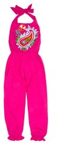 Toddler Girl's Masalababy Paisley Embroidered Halter Jumpsuit