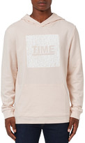 Topman &Time& Graphic Fixed Hem Oversize Hoodie