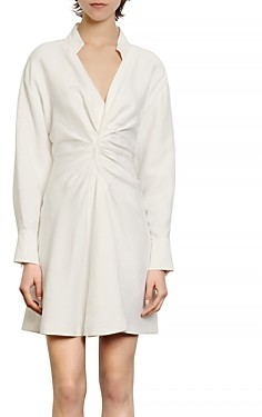 Sandro Celia Ruched Mini Dress
